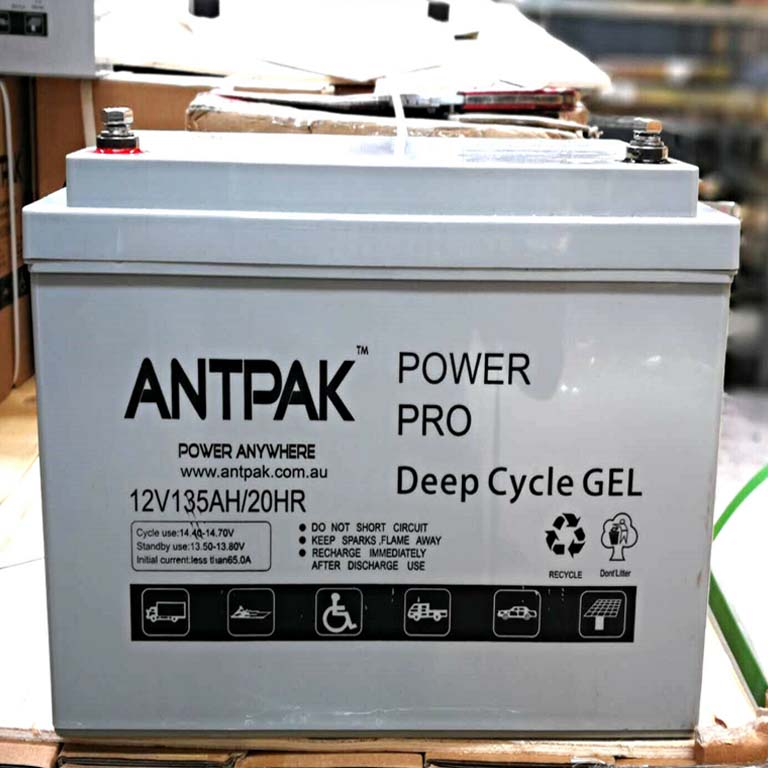 4wd Solar Wind 12v 135ah Gel Deep Cycle Battery For